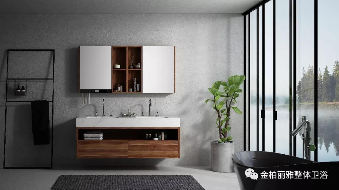 岩板浴室柜