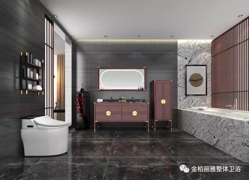新中式古典主义浴室柜,重新演绎东方经典与美