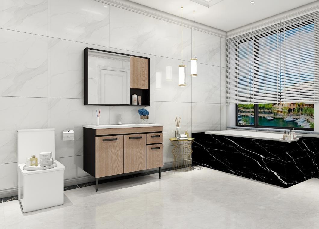 国内浴室柜哪个品牌好?推荐这款工业风浴室柜