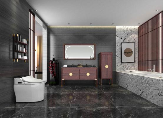 现代、简约、新中式、美式卫生间装修效果图,你喜欢那哪个?