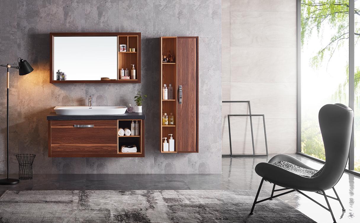 金柏丽雅卫浴胡桃木浴室柜 | 在家感受北美森林原生态之美