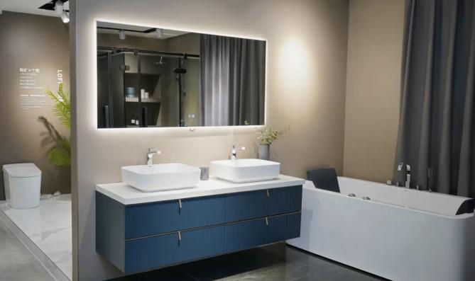 2020卫浴新品 | 灰蓝星空简约轻奢浴室柜