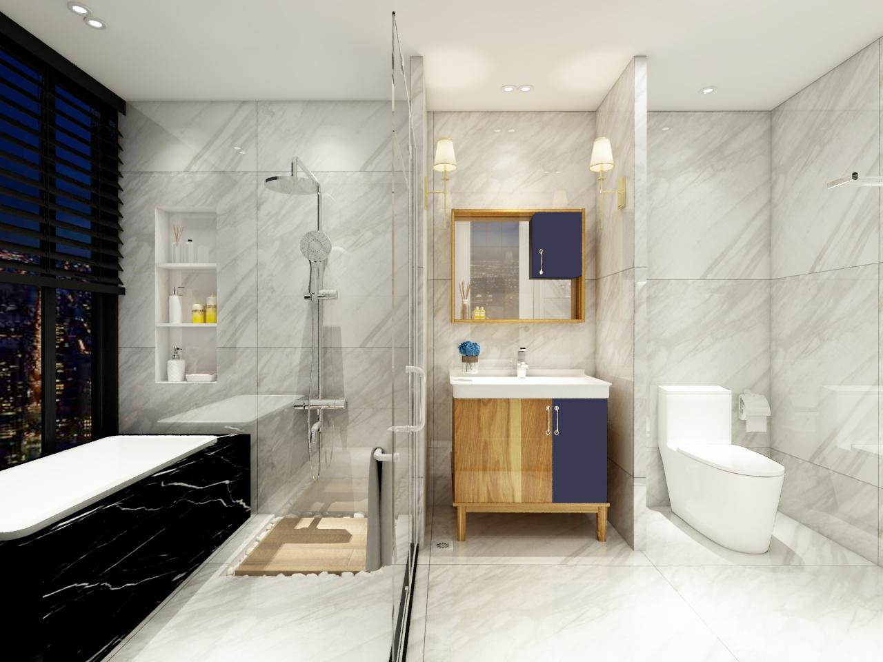 金柏丽雅卫浴新品浴室柜Y-641丨Day&night一种风格的两种风情